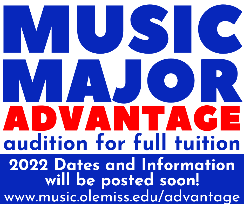 Click to read the schedule for the 2021 Music Major Advantage Weekend at the University of Mississippi
